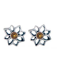 Birthstone Flower Stud Earring - November