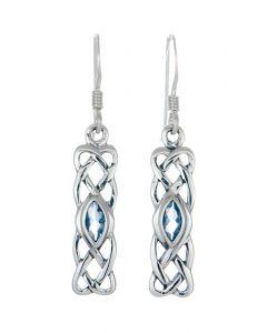 March Birthstone Celtic   Earring -