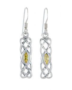 Celtic Birthstone Earring - November