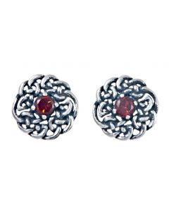 Celtic Birthstone Stud Earring - January