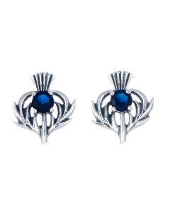 September Birthstone Stud Earrings  Scottish Thistle