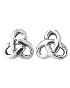 North Coast 500 Souvenir Sterling Silver Celtic Trinity Knot Stud Earrings