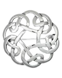 Sterling Silver Round Celtic Weave Brooch