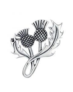 Sterling Silver Large Thistle Brooch