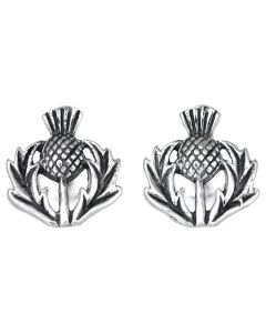 North Coast 500 Official Souvenir  Thistle Stud Earring made from Sterling Silver