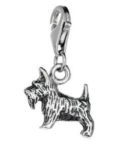 Sterling Silver Scottish Terrier Scottie Dog Clip On Charm