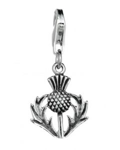 Sterling Silver Thistle Celtic Clip On Charm