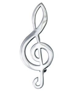 Sterling Silver Treble Clef Brooch