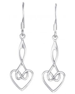 North Coast 500 Sterling silver heart drop earrings