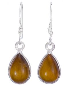 Sterling silver tiger eye cabachon earrings (assorted shapes)