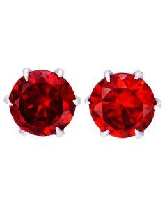Sterling silver gemstone stud earrings