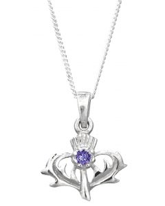 North Coast 500 Souvenir Necklace , Sterling Silver Scottish Thistle Necklace