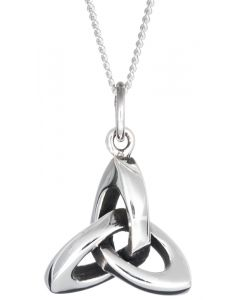Sterling Silver 3D Trinity Knot Necklace