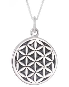 Sterling Silver 925 Flower of Life Necklace