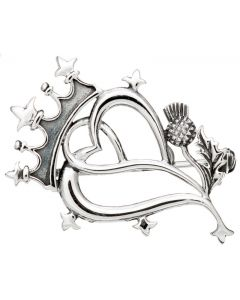 Scottish Luckenbooth Brooch 925 Silver