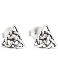 Sterling Silver Celtic Triangular Earrings