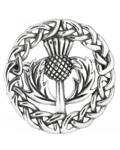 Sterling Silver Scottish  Thistle  Brooch