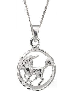 Sterling Silver Scottish Unicorn Necklace