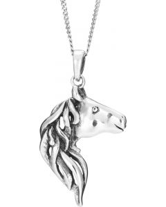 Sterling Silver Horses Head necklace