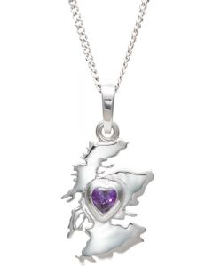 Sterling Silver 'My Heart in Scotland' necklace