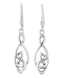 Sterling Silver Celtic Knotwork  drop earrings