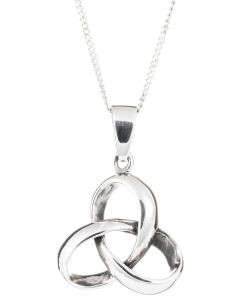 Sterling Silver Celtic 3D Trinity Knot Necklace
