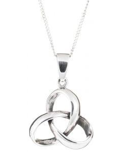 Sterling Silver Celtic 3D Trinity Knot Necklace