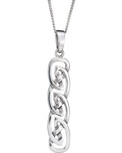 Celtic Rectangular  Necklace crafted from 925 Silver