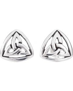Sterling Silver Small Trinity Knot  Earrings