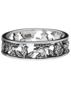 Outlander Inspired Sterling Silver Fraser Thistle ring