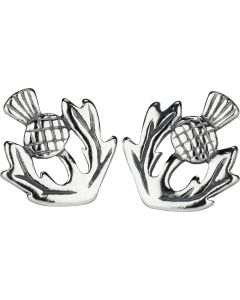 Scottish Thistle stud earring Sterling Silver