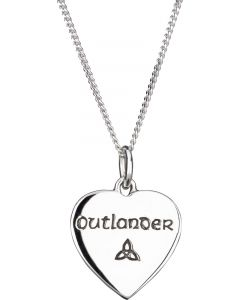 Outlander Heart Celtic Necklace crafted from 925 Sterling Silver