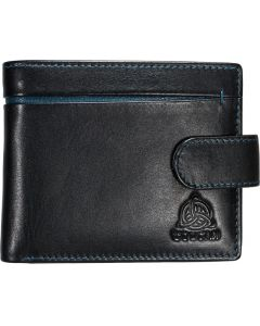 Genuine Leather Mens 8 slot RFID wallet