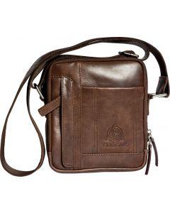 Distressed  Leather Medium Messenger Bag