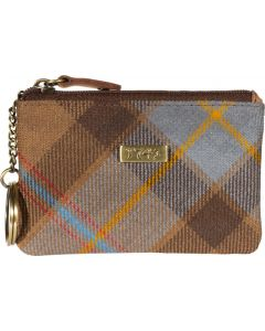 Outlander Inspired Dragonfly Tartan 1743 Coin/Key purse