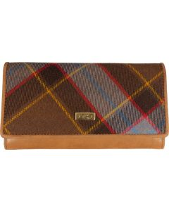 1743 Unicorn Tartan RFID Flapover purse