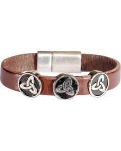 Celtic Leather Trinity Bracelet