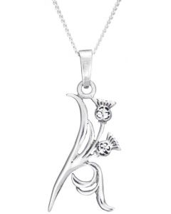 North Coast 500 Sterling Silver Thistle Necklace