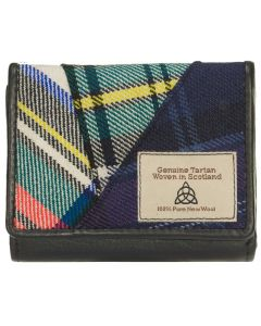 Quirky Tartan Leather RFID Clutch  Purse