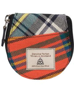 Quirky Tartan Horseshoe   Coin Purse
