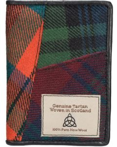 Quirky Tartan Genuine Leather RFID Credit Card Holder