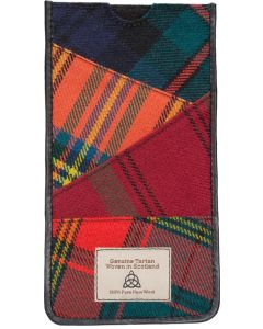 Quirky Tartan Genuine large  phone Holder gift boxed