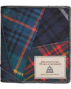 Quirky Tartan Genuine Leather RFID Wallet